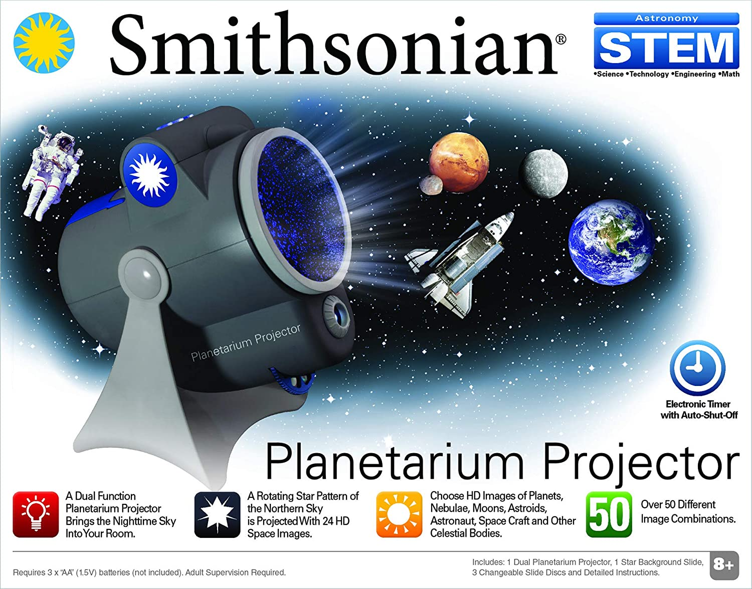 Smithsonian Optics Room Planetarium and Dual Projector Science Kit ...