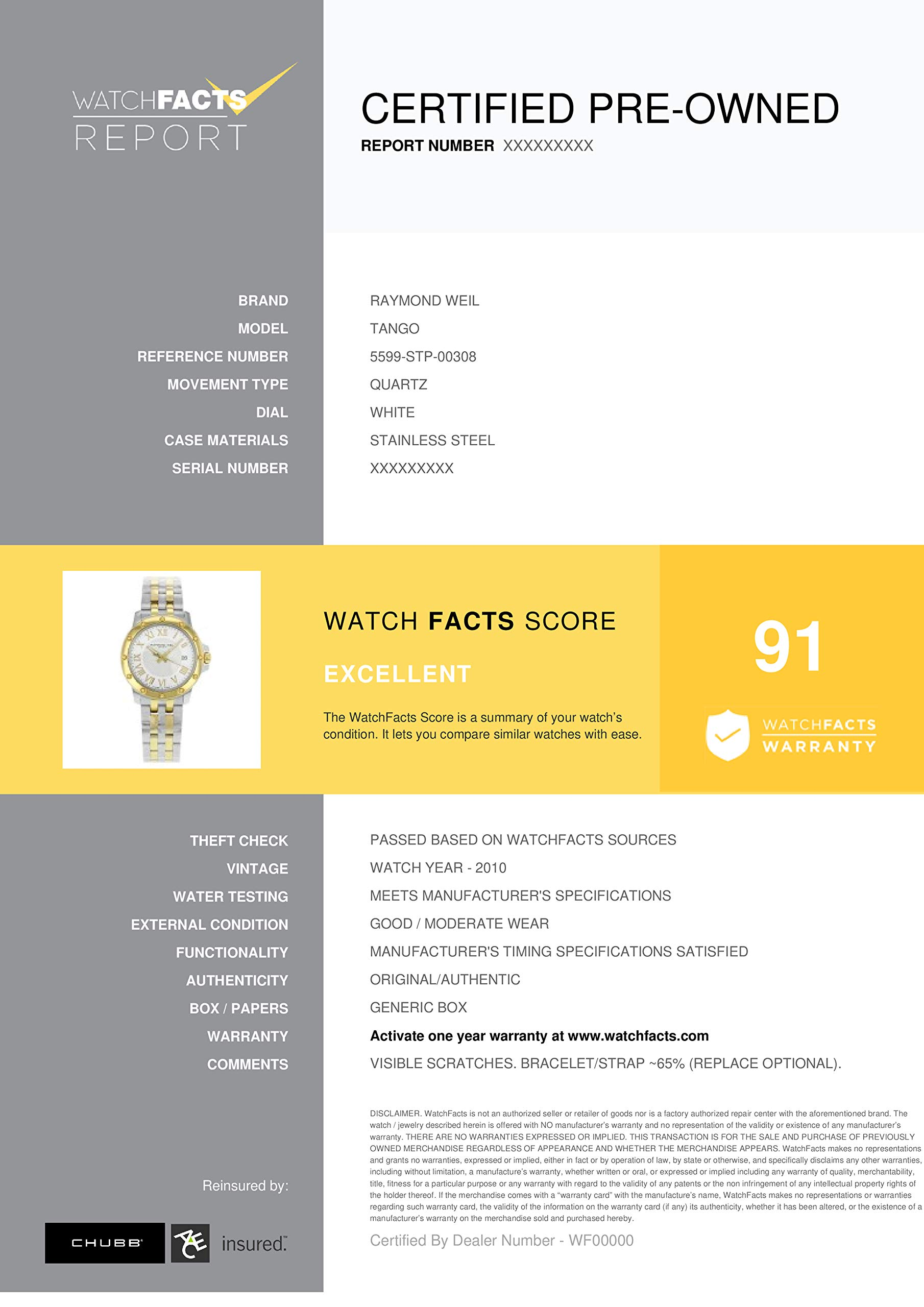 Raymond Weil Tango Quartz Male Watch 5599-STP-00308 (Certified Pre-Owned) by RAYMOND WEIL (Image #5)