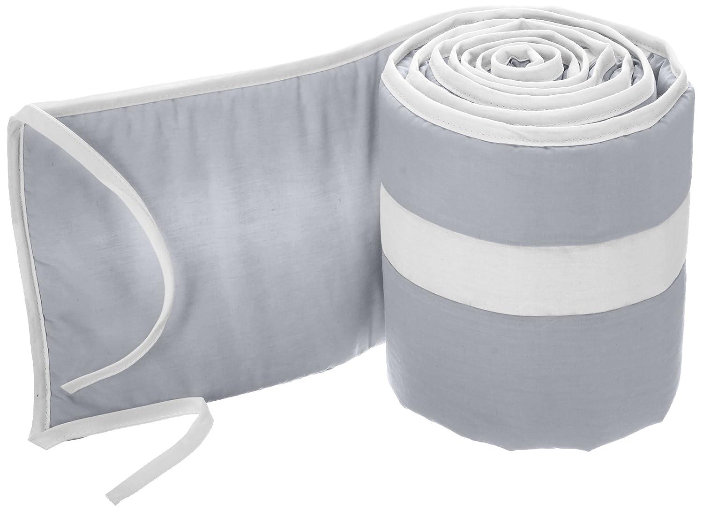 Babykidsbargains Stripe Cradle Bumper, Blue/White, 18