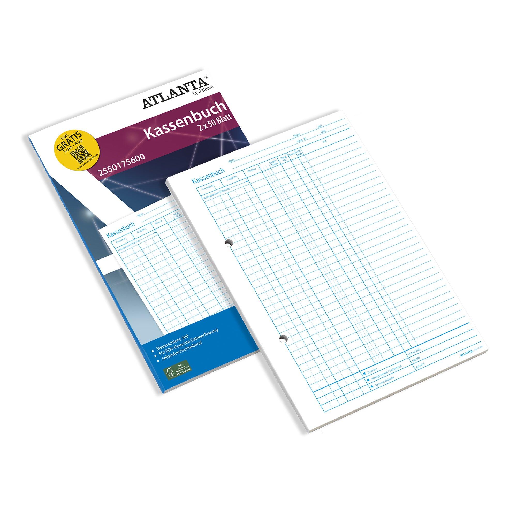 Jalema 2550175600Cash Columns Account Book A4Self Copying