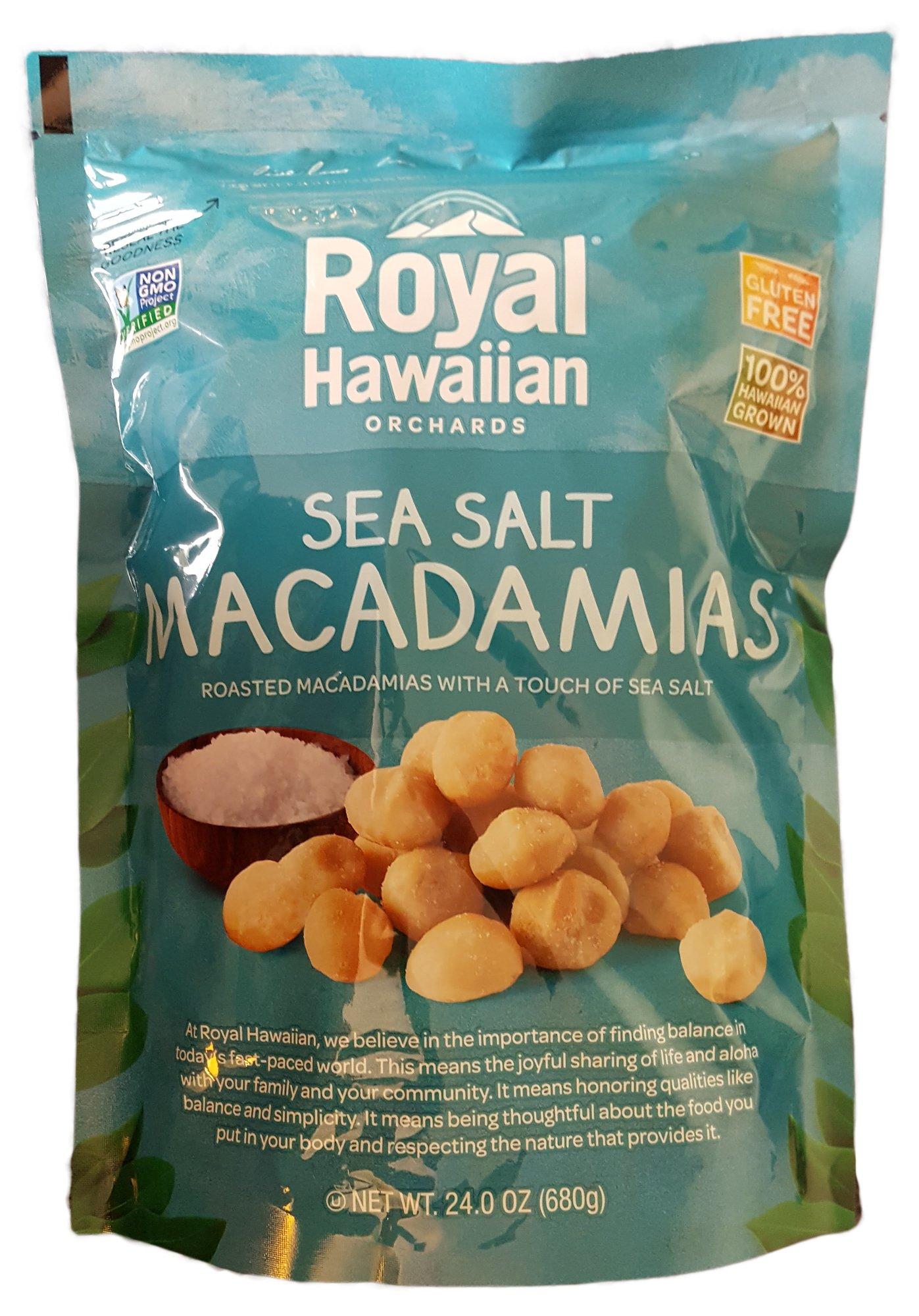 Royal Hawaiian Orchards Macadamias, Sea Salt Macadamia Nuts, 24 Ounces (680 Grams) by Royal Hawaiian Orchards