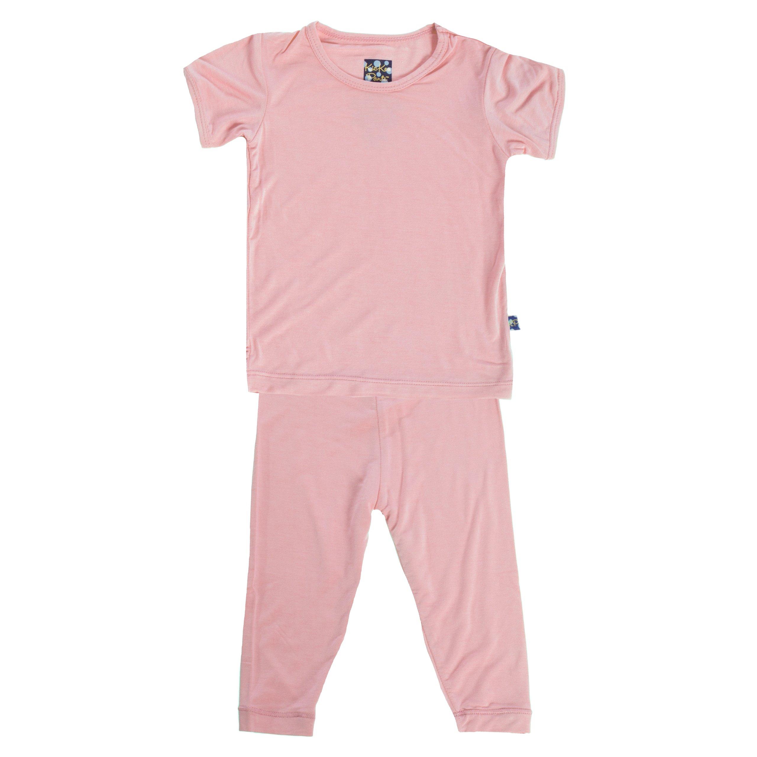 KicKee Pants Short Sleeve Pajama Set, Lotus, Girls 6 by Kickee Pants (Image #1)