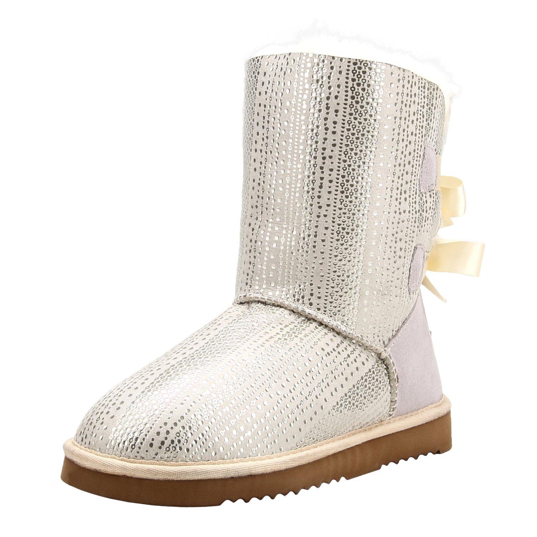 Shenduo Boots - Boots Femme Hiver, Hiver, Bottes Doublure de Neige à Paillette Doublure Chaude D5078 Blanc a536d38 - fast-weightloss-diet.space