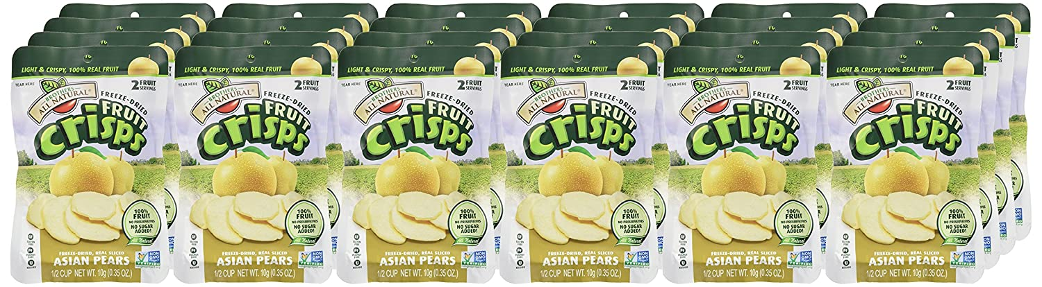 Brothers-ALL-Natural Fruit Crisps, Asian Pear, 0.35 Ounce ...