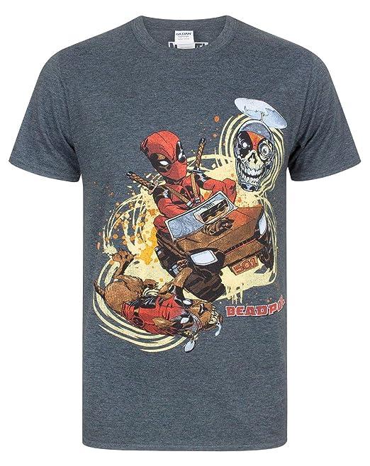 Deadpool Mercenary Camiseta Negro SpcDKEc