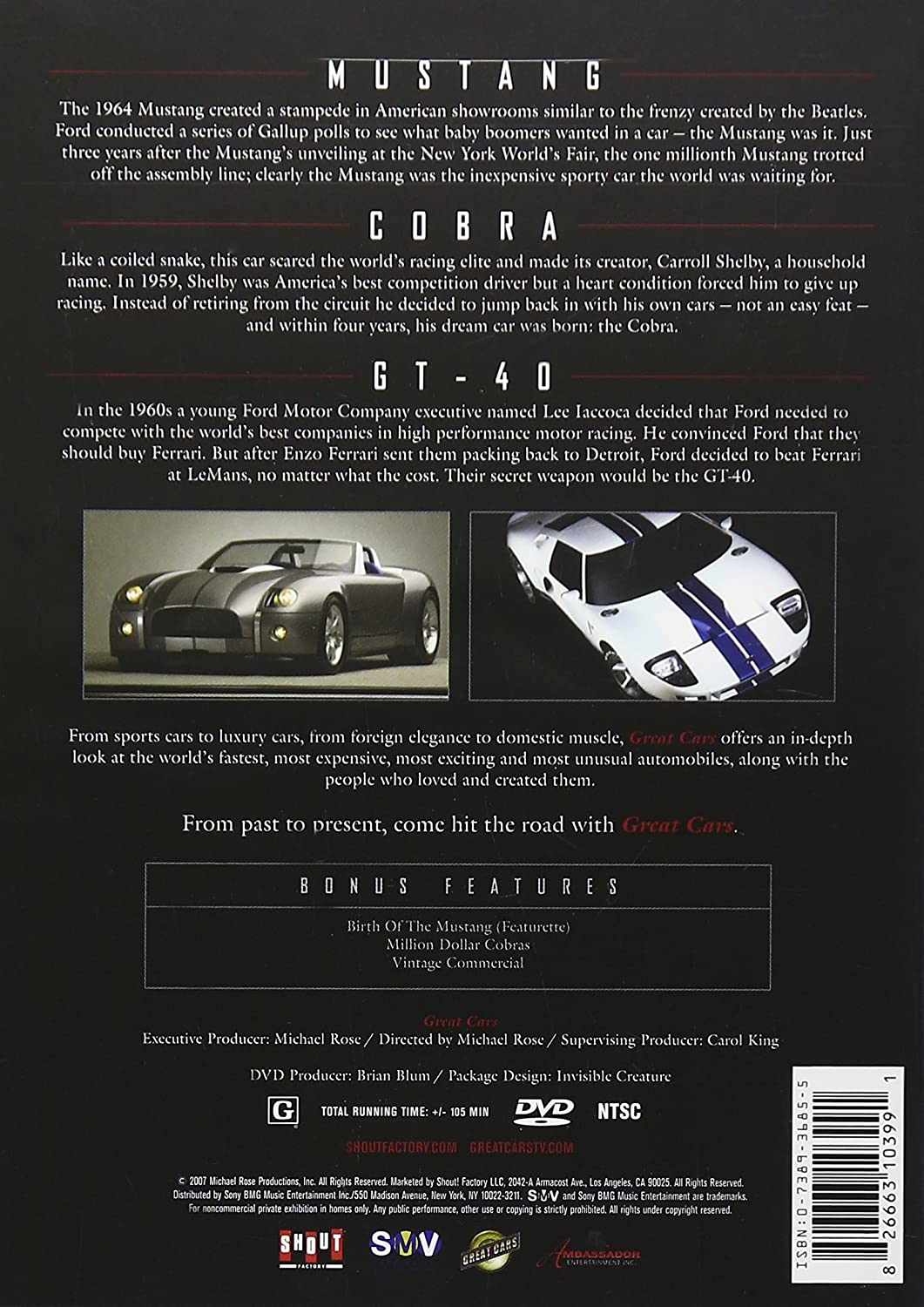 Great Cars Mustang Cobra Gt40 Movies Tv 1960s Ford Sports