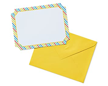 Amazon american greetings 20 count colorful striped blank note american greetings 20 count colorful striped blank note cards multicolor m4hsunfo