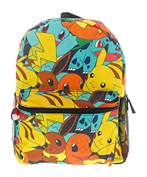 2e57956521 Image Unavailable. Image not available for. Colour  Pokemon Canvas Backpack  ...
