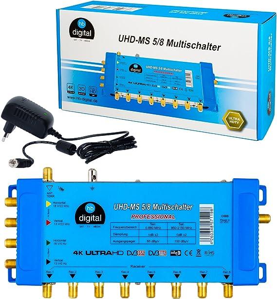 Multischalter Multiswitch PMSE 9//6 9x6 2 Sat Quattro LNB 0,1dB FULL HDTV 3D 4K