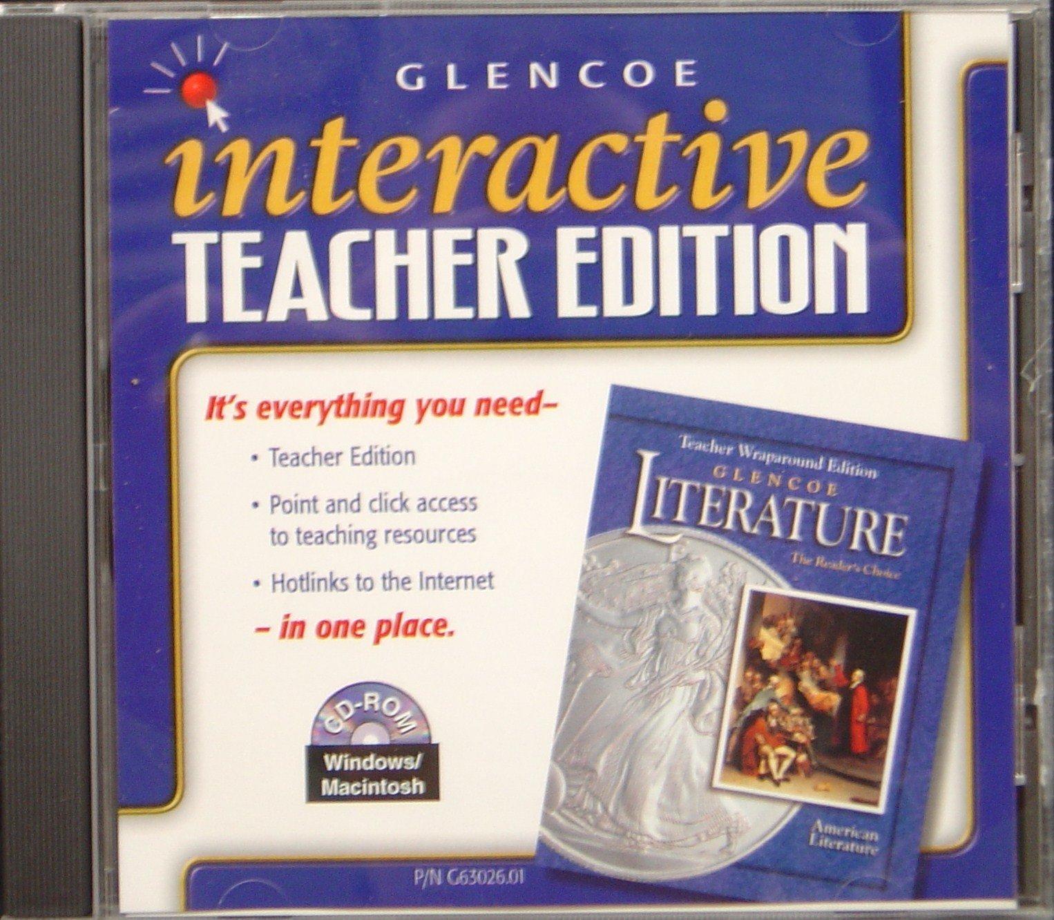 Interactive Teacher Edition CD for TWE Glencoe Literature (The Reader's Choice: American Literature, 0078263026) pdf