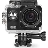 Elephone ELE CAM Explorer Wi-Fi Sports Action Video Cameras Waterproof 16MP 4K 1080P 64GB 170 Degree Wide Angle Lens H.264 HDMI Output Shockproof Outdoor Camcorder Car DVR Ultra HD 2.0-inch LCD(Black)
