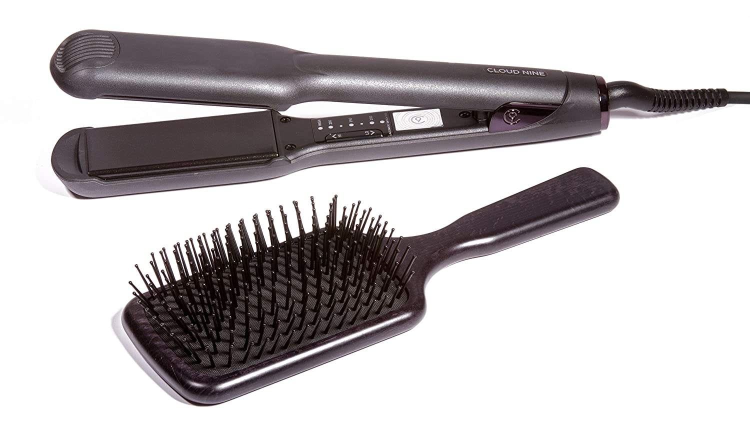 Cloud Nine Wide Hair Straighteners & Cloud Nine Proffesional Paddle Brush
