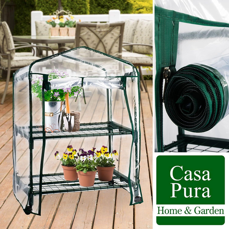 Casa Pura Casabella Invernadero caseta de jardín con ruedas, móvil, gran flexibilidad, neutraliza los rayos UV, resistente a las condiciones climáticas: ...