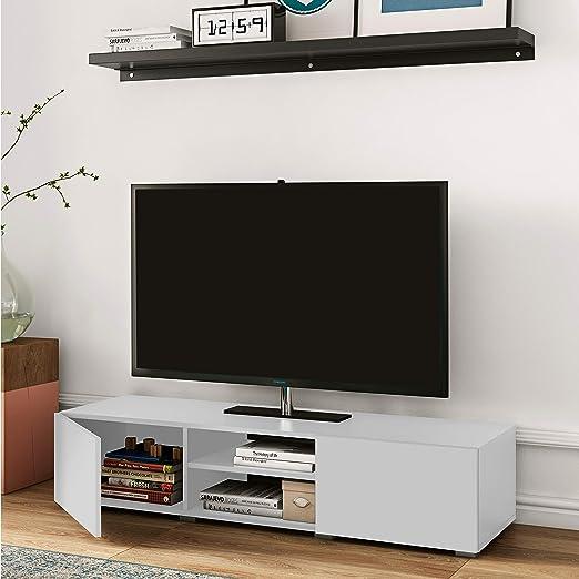 temahome Podium Mueble para TV, Rojas, Melamina, Blanco, 140 x 42 ...