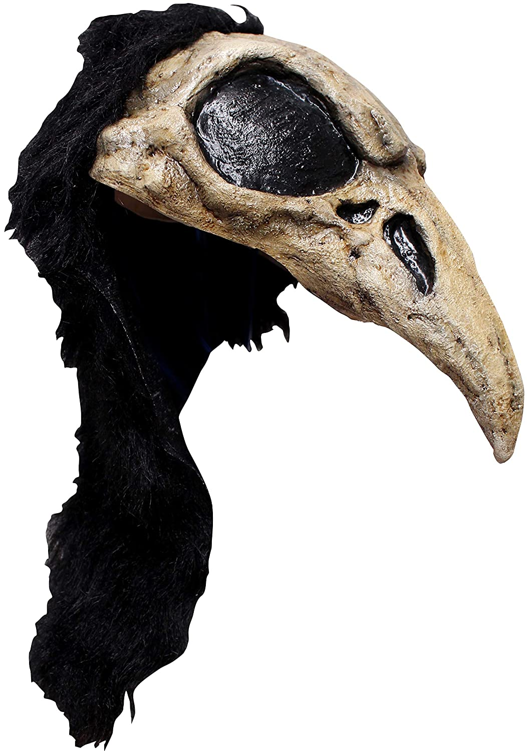 Crow Bird Skull Adult Latex Helmet Warrior Barbarian Raven Black Cosplay Larp Ghoulish Productions