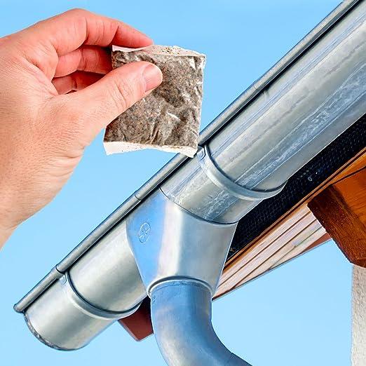 Limpiador de canaleta y desagüe, bolsas de enzima biológica para desatascar y desbloquear canaletas: Amazon.es: Jardín