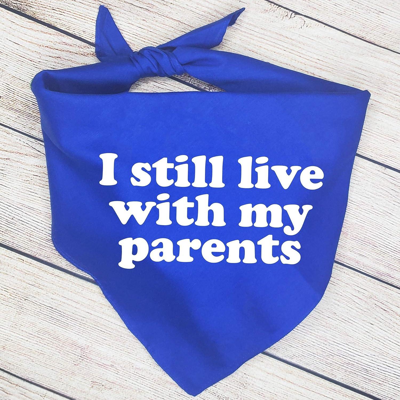 Funny I Still Live With My Parents Dog Bandana Dog Scarf