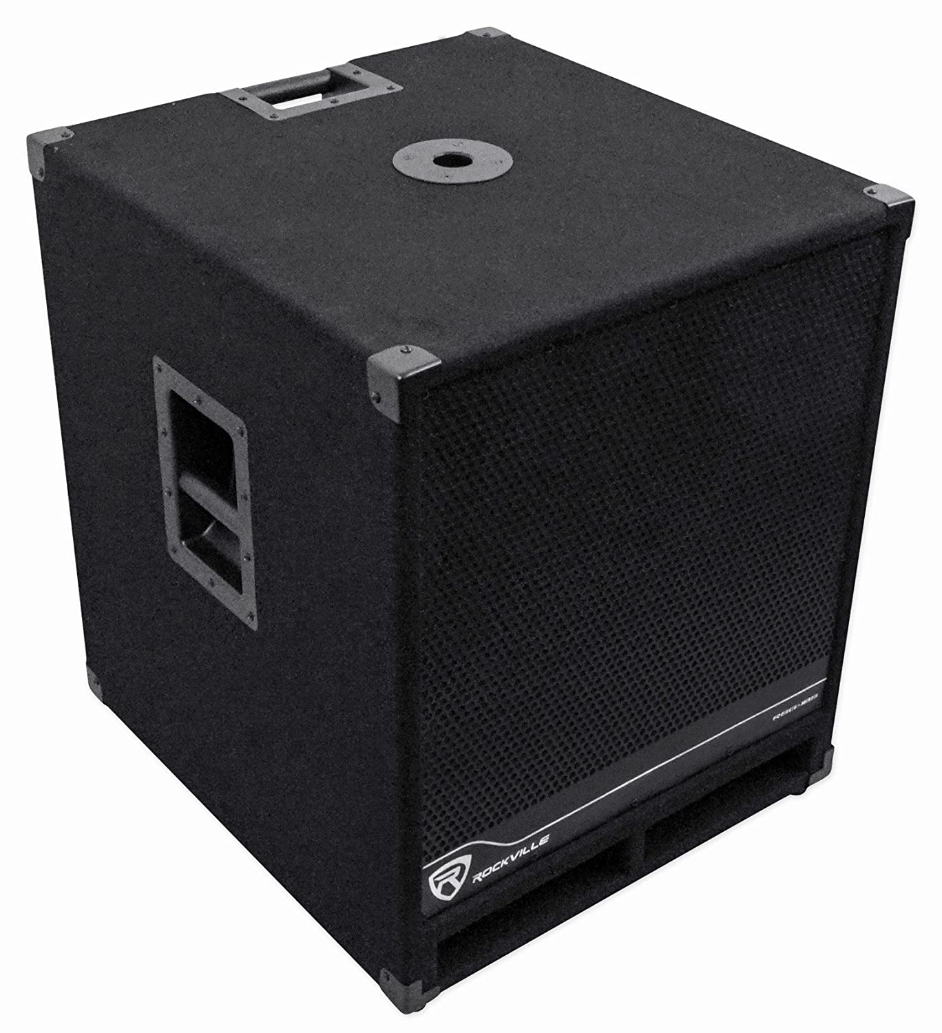 Rockville Rbg18s 18 2000 Watt Active Powered Pa Ohm Subwoofer Wiring Likewise Dual Voice Coil Speaker W Dsp Limiter Pro Dj Musical Instruments
