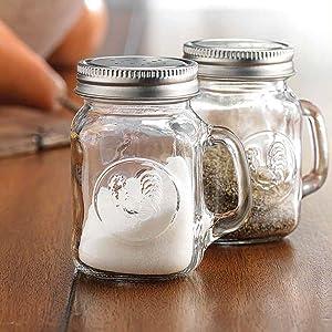 Home Essentials Rooster Embossed Salt and Pepper Shaker Set