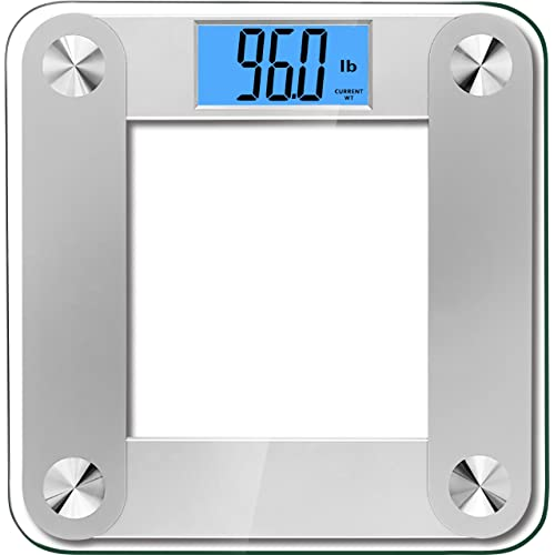 "BalanceFrom High Accuracy MemoryTrack Plus Digital Bathroom Scale with ""Smart Step-On"" and MemoryTrack Technology, Extra Large Dual Color Backlight Display [NEWEST VERSION] (Silver)"