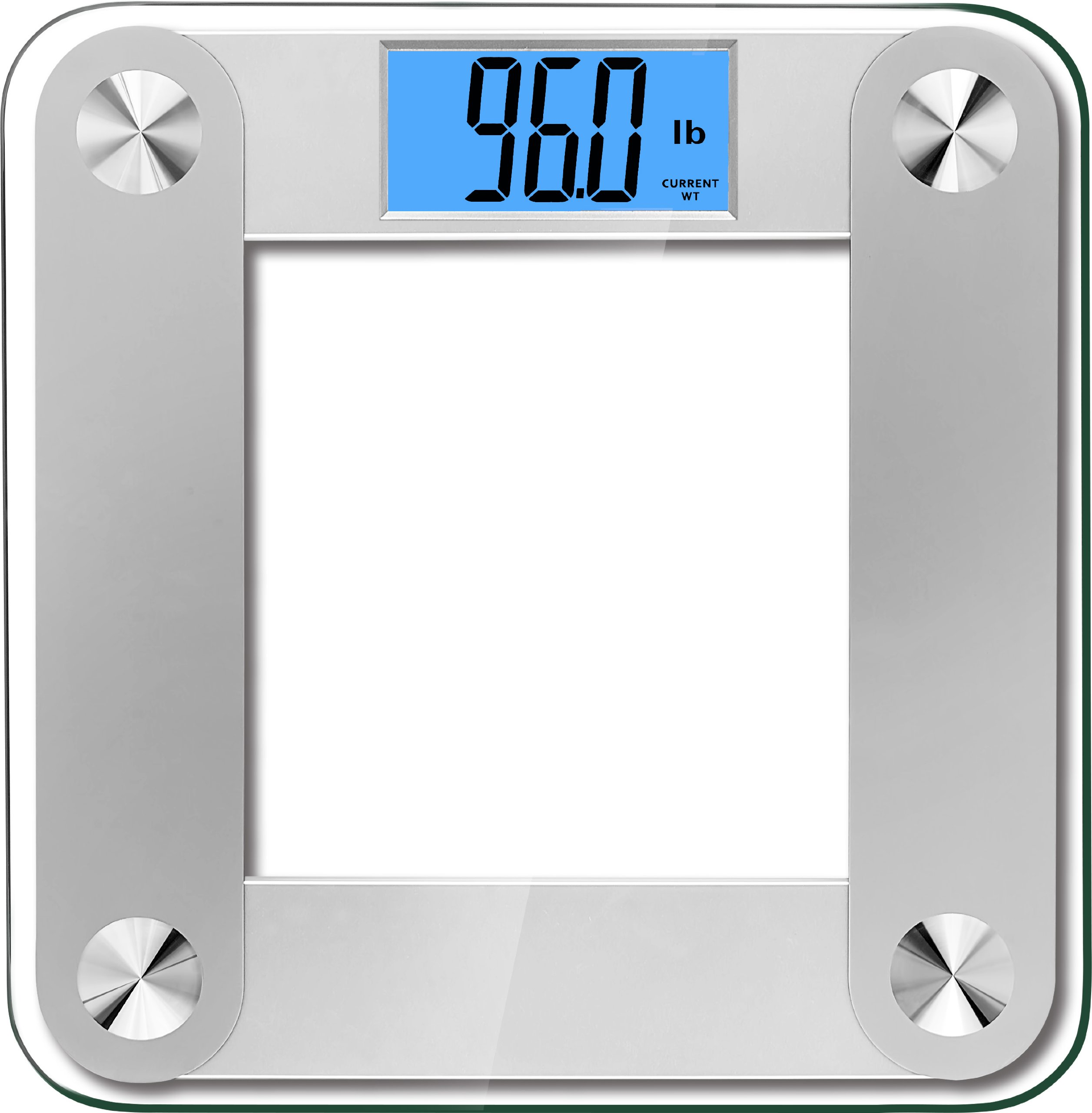BalanceFrom High Accuracy Premium Digital Bathroom Scale with 3.6'' Extra Large Dual Color Backlight Display and''Smart Step-On'' Technology [NEWEST VERSION] (Silver/Partial)