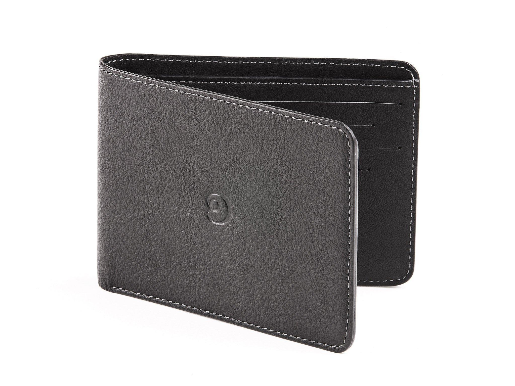Slim Leather Wallet for Men by Danny P. (Black)
