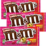 M&M's Limited Edition Strawberry Nut Chocolate Candies (3.27 oz. sharing size) 3 bags