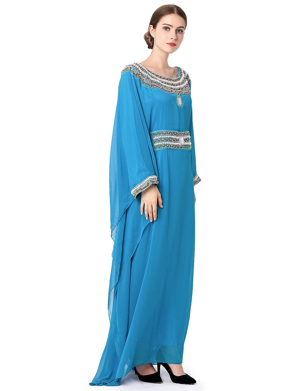 Islamic Clothing Embroidery Women Jalabiya muslim abaya long dubai ...