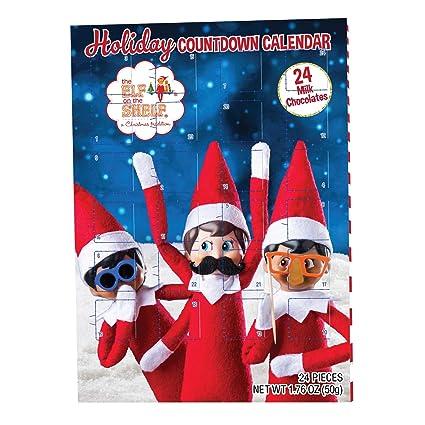 The Elf On The Shelf Christmas Chocolate Advent Countdown Calendar 24 Milk chocs
