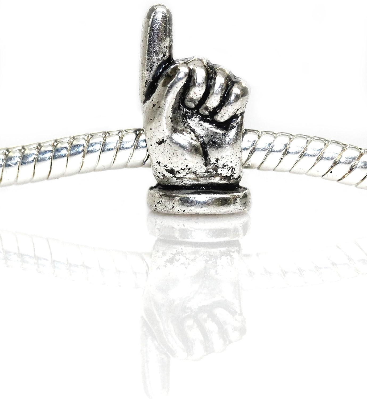 European Cat Mom Paw Charm Bead Spacer for Snake Chain Charm Bracelet