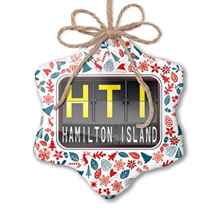 Hamilton Christmas Ornament.Amazon Com Neonblond Christmas Ornament Hti Airport Code