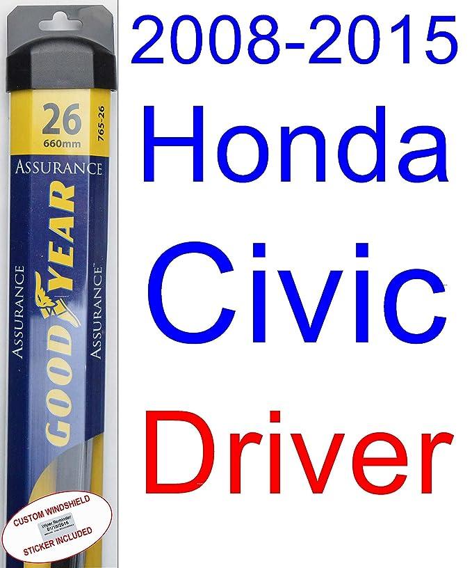 Amazon.com: 2008-2015 Honda Civic Sedan Wiper Blade (Driver) (Goodyear Wiper Blades-Assurance) (2009,2010,2011,2012,2013,2014): Automotive