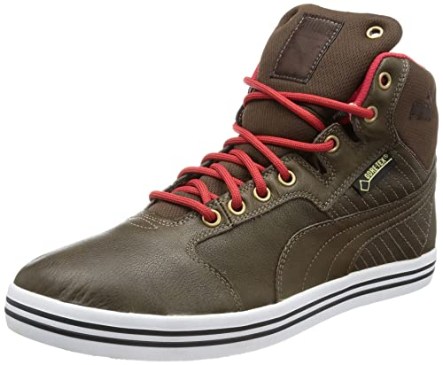 Puma Mens Tatau Mid L Gtx HiTop Trainers Brown Chocolate Brown