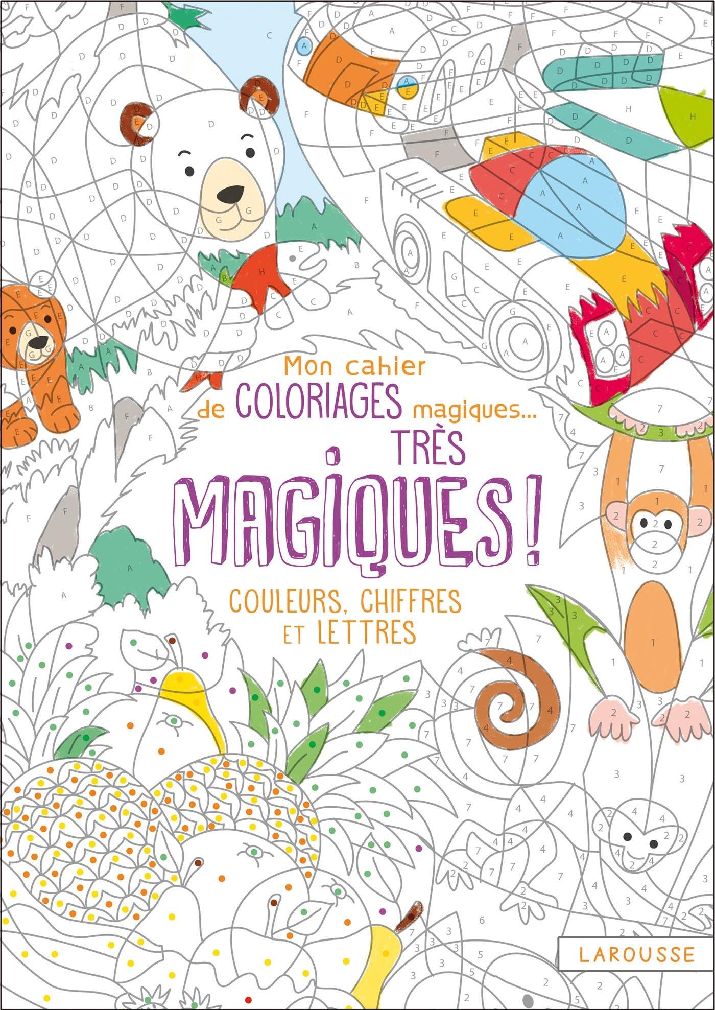 Mon Cahier De Coloriages Magiques Tres Magiques Couleurs Chiffres Et Lettres Amazon Fr Boyer Alain Livres