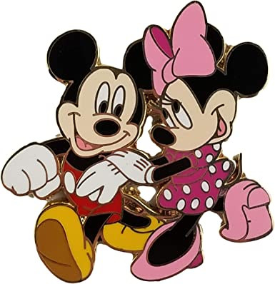 2 PINS AS SHOWN-Fast Shipping Disney Pin MICKEY AND MINNIE ON THE RIDES