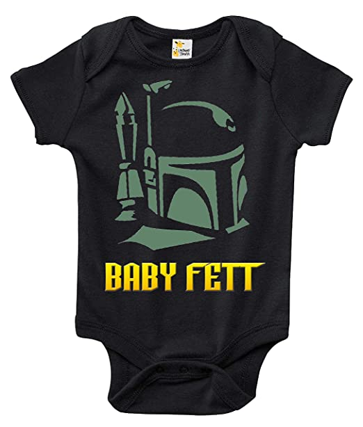 8d1c778cc439 Amazon.com  Rapunzie Baby Fett Baby Bodysuit Cute Funny Baby Clothes ...