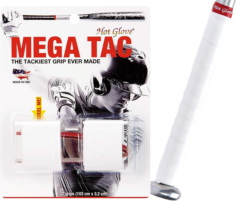 NEW Tackiest Grip for Baseball /& Softball Bats Hot Glove Mega Tac 2 Grips
