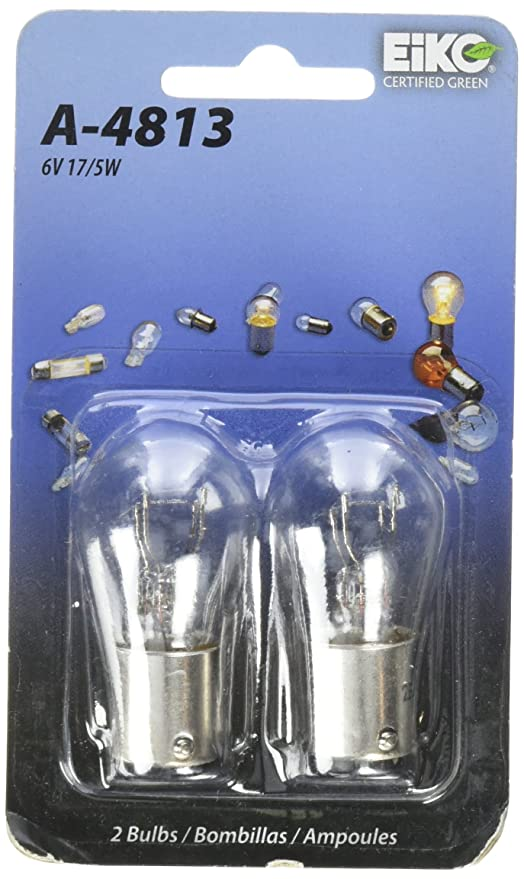 Eiko A-4813-BP S-8 DC Index Bayonet Base Halogen Bulb, 6V - Powersports Taillights - Amazon.com