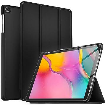 IVSO Funda Carcasa para Samsung Galaxy Tab A T510/T515 10.1 2019, Slim PU Protectora Carcasa Cover para Samsung Galaxy Tab A 10.1 T510/T515 2019, ...