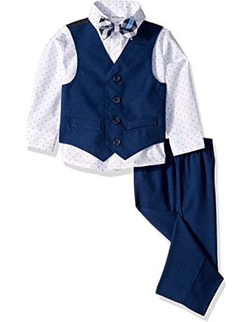 f9e0062a483 Van Heusen Baby Boys 4-Piece Patterned Dresswear Vest Set