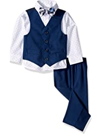 Van Heusen Baby Boys 4-Piece Patterned Dresswear Vest Set 4775f7a5d