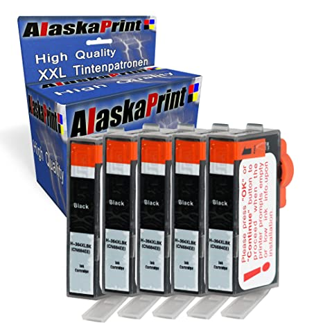 5x Druckerpatronen Komp. mit HP 364 XL 364XL mit Photosmart Plus B209a B209b B209c B210a B210b B210c Premium Fax C309a TouchS