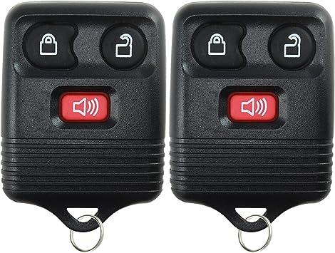 KeylessOption Black Replacement 3 Button Keyless Entry Remote Control Key Fob Clicker