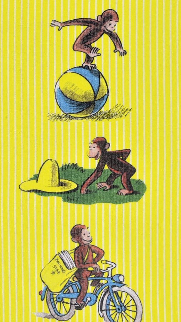 おさるのジョージ Hd 7 1280 壁紙 キュリアスジョージ アニメ スマホ用画像