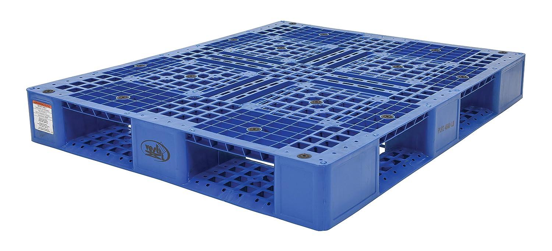 40in.L x 48in.W x 6in.H Blue Vestil Plastic Pallet Model Number PLP2-4840-BLUE Capacity 6,600-lb