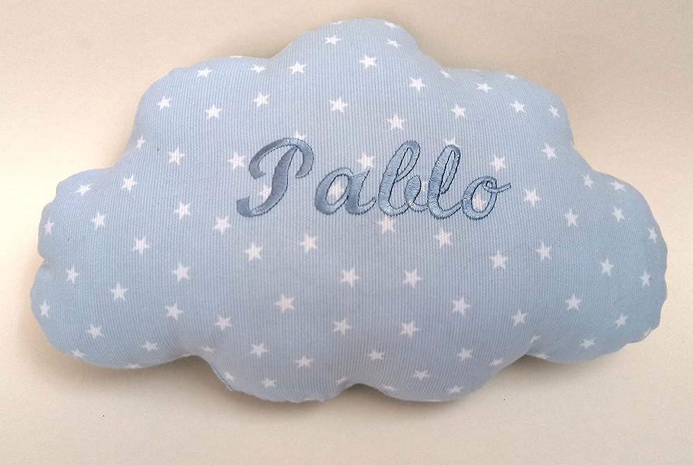 Cojín para bebés personalizado con su nombre, bordado a ...