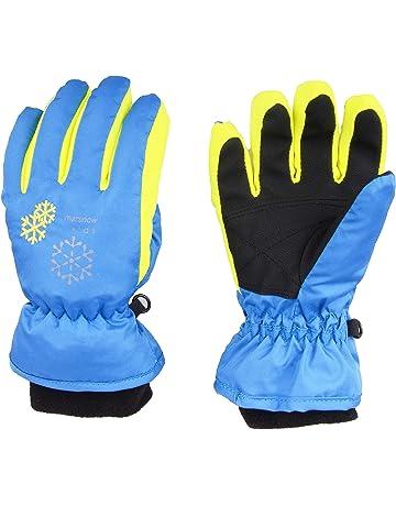 Bleu Fonc/é, 6-8 Ans 1 Paire Gants dHiver Anti-d/érapant Respirant Gants de Ski Patinage Cyclisme pour Enfants