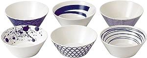 "Royal Doulton 40019363 Pacific Mixed Patterns Bowls , 6.2"", Multiple ,(Set of 6)"