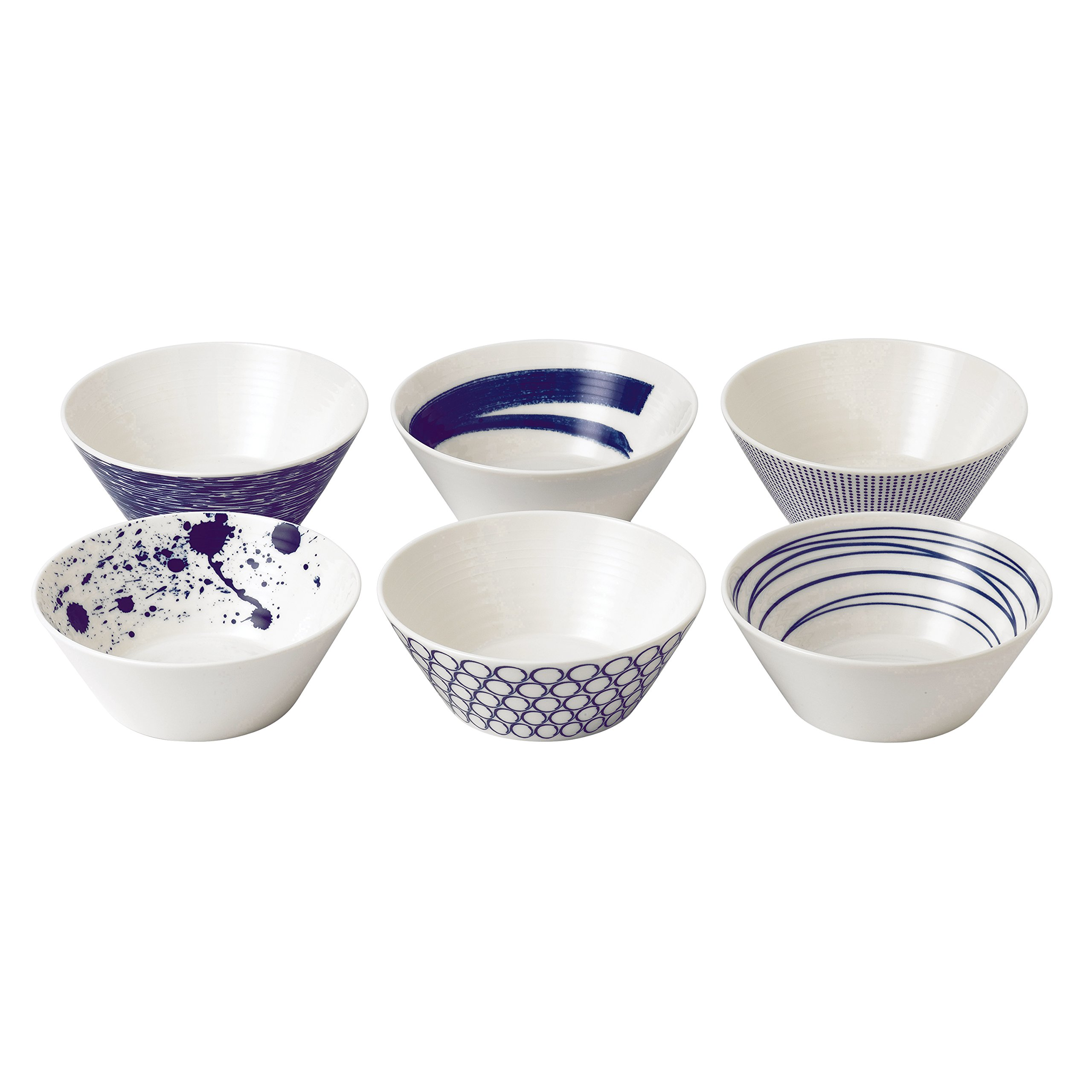 Royal Doulton 40019363 Pacific Mixed Patterns Bowls, 6.2'', Multiple,(Set of 6)