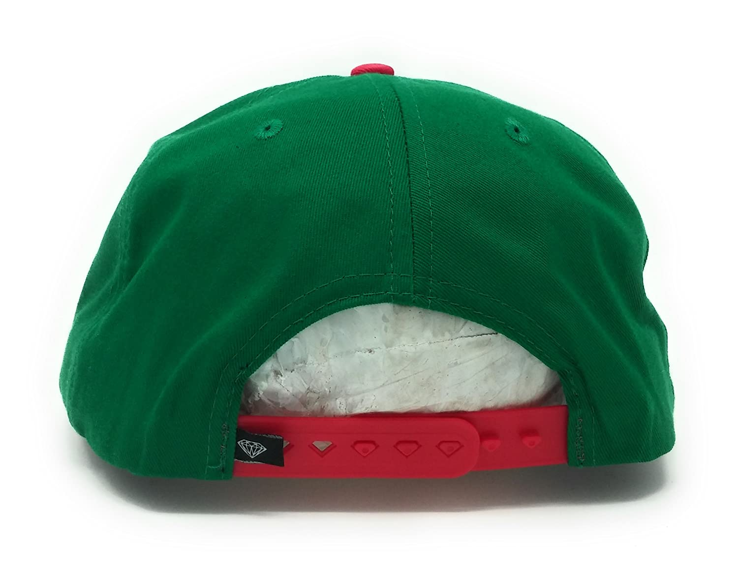 d0a2e27c7fc Diamond Supply Co DMND Snapback Hat (Green Red) at Amazon Men s Clothing  store